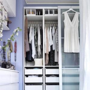 Aménager un dressing dans une petite chambre
