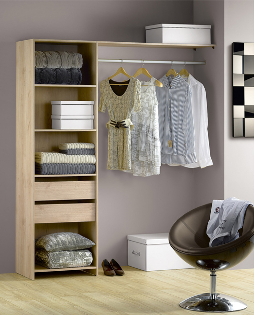 d co des id es pour emm nager un dressing dans une chambre. Black Bedroom Furniture Sets. Home Design Ideas