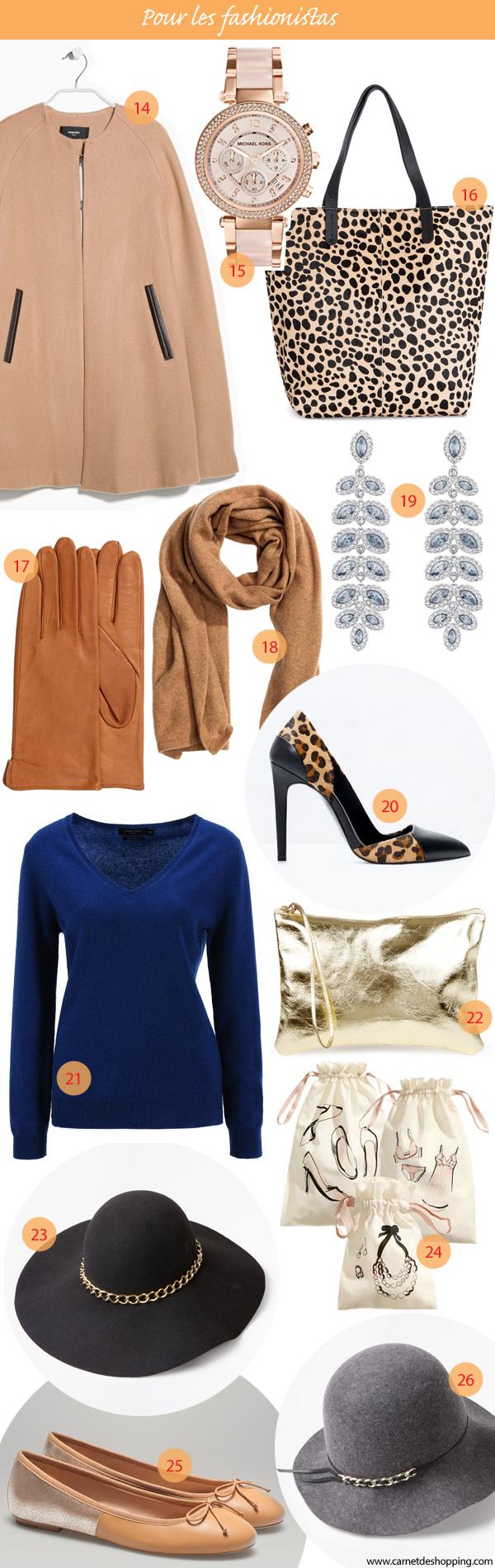 Cadeaux Noël 2014 mode