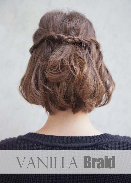 coiffures de fêtes cheveux courts
