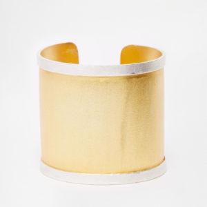 Kasturjewels - Bracelet manchette plaqué or