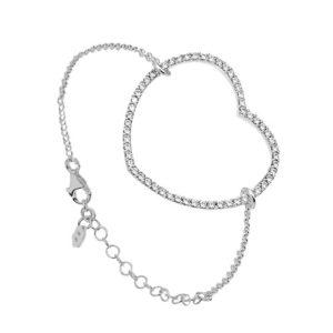 Bracelet chaîne coeur en argent - Canyon