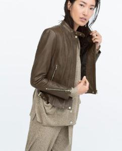 Zara printemps 2015 Blazer en cuir