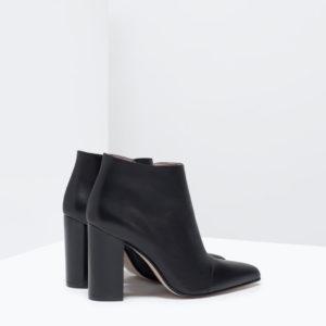 Zara printemps 2015 Bottine à talons en cuir