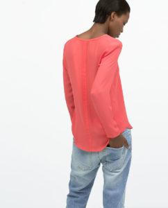 Zara printemps 2015 Chemise encolure