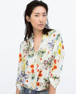 Zara printemps 2015 Top col mao
