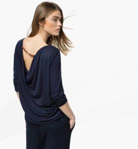 tshirt drape dos tshirt matelasse tshirt poignet eclair veste maille Massimo Dutti printemps 2015i