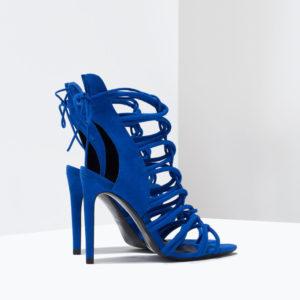 Sandales enveloppantes à talon ouverts Zara