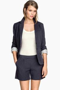 Short en coton tissé H&M