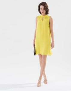 Robe col montant Laurie (Jaune citron), 129.00€, 1.2.3