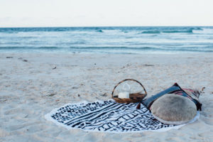 Serviettes rondes The Beach People - Aztec