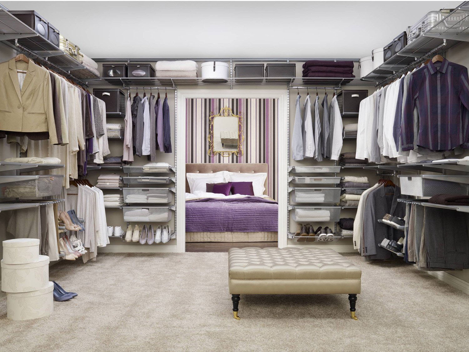Dressing am nagement m tallique elfa leroy merlin - Amenagement dressing leroy merlin ...