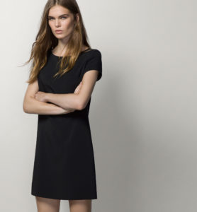 Black dress Massimo Dutti automne 2015