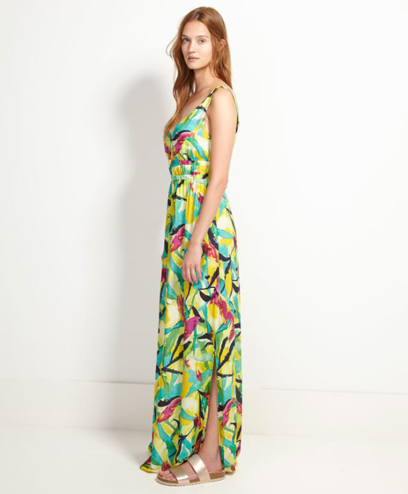 Robes maxi - Robe maxi imprimé tropical, Oysho