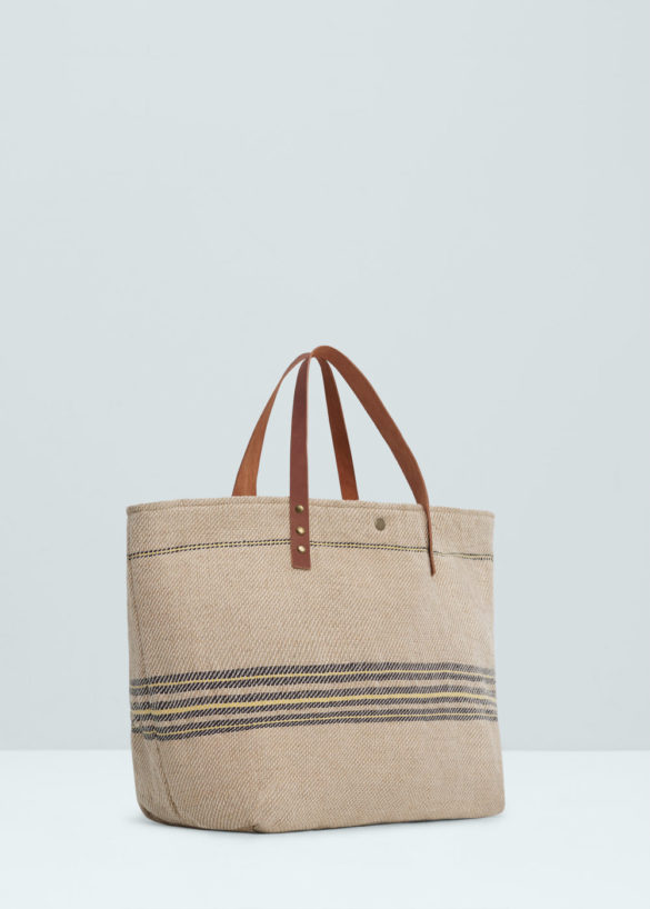 Sac shopper en jute, Mango