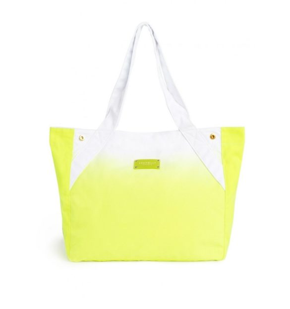 Sac de plage vert fluo Dyed Pretty bag Seafolly