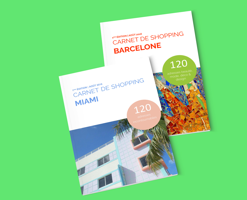 carnet de shopping à Barcelone et shopping à Miami