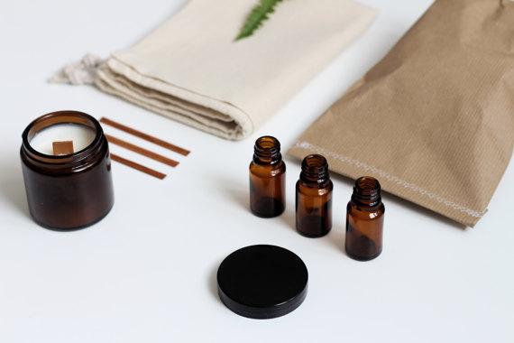 Box - Kit DIY bougie parfumée naturelle, Note Suave