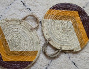 Paniers ronds Isis - Ocre & Camel Beldy