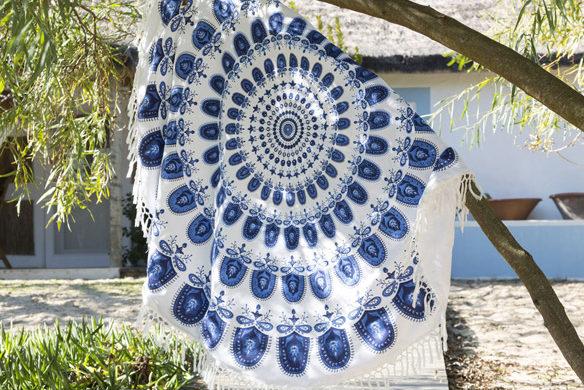 serviette de plage ronde becquet