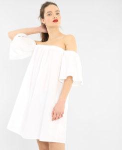 Robe popeline à col Bardot, Pimkie