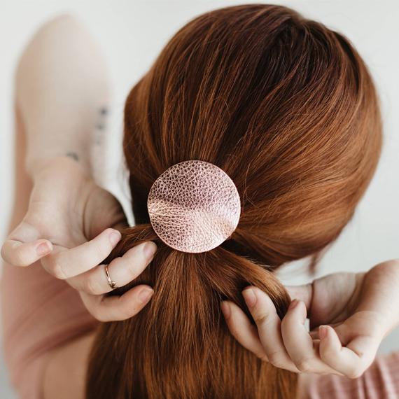 Elastique a cheveux en cuir ANNIE BUKHMAN