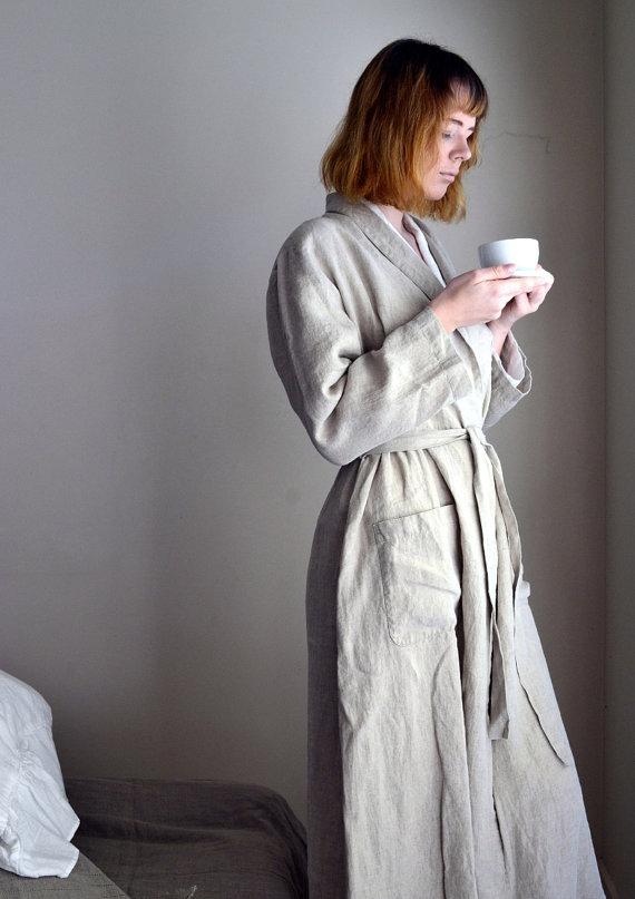 Robe de lin naturel HOUSE OF BALTIC LINEN