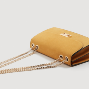 Petit sac en cuir avec chaîne, Mango
