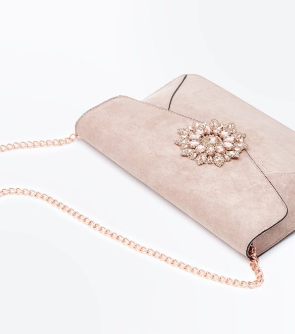 Petit sac avec broche devant (Rose pâle), 22,99€, New Look