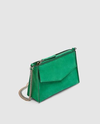Petit sac bandoulière en cuir, Zara