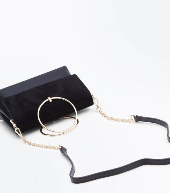 Petit sac en suédine à anneau métallique, New Look