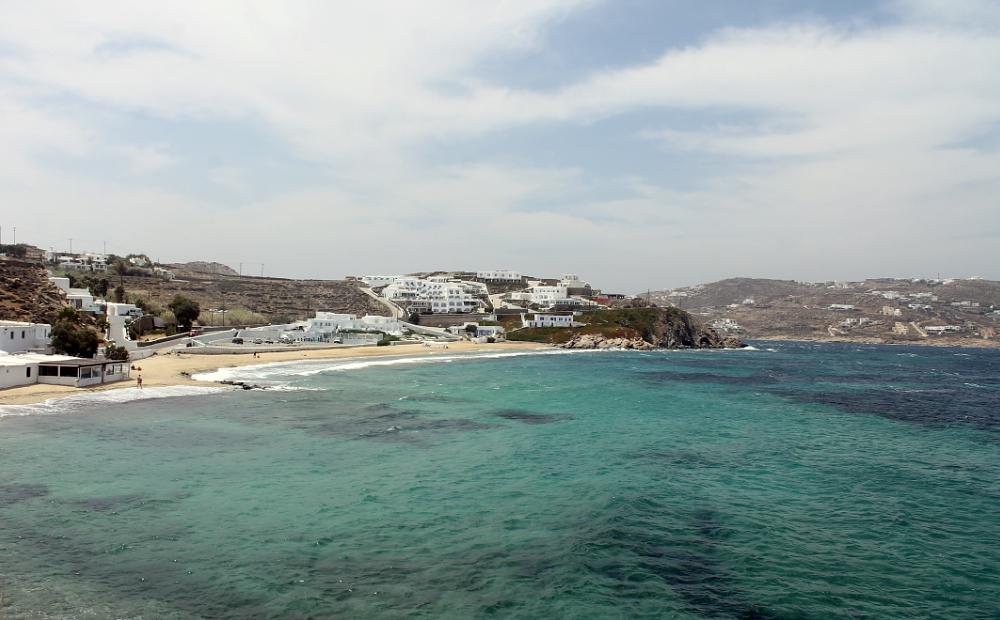 Escade à Mykonos - Megali Ammos beach