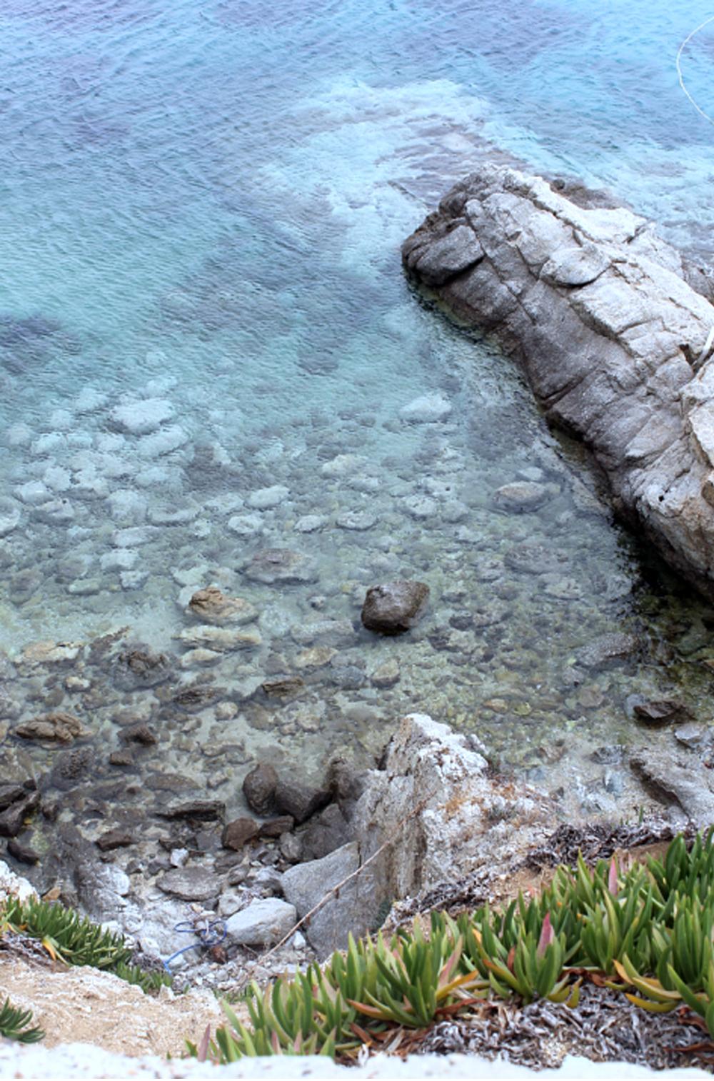 Escade à Mykonos - Psarrou beach