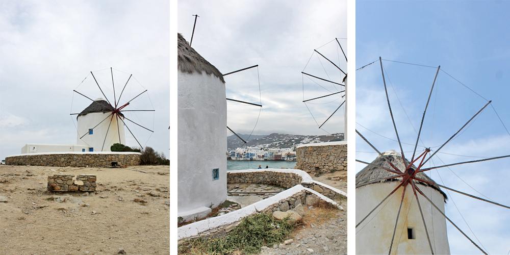 Escapade à Mykonos - Les moulins