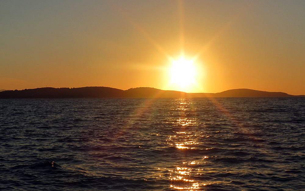 Coucher de soleil Hvar - Croatie