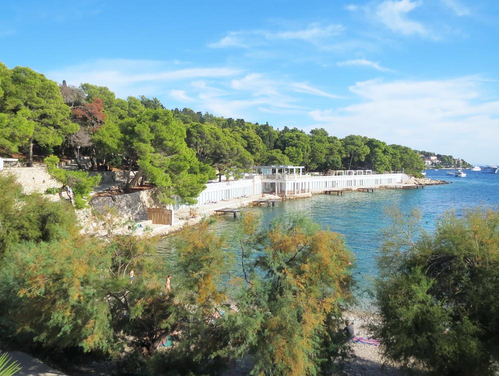 Plage de Bonj les bains - Île de Hvar - Croatie