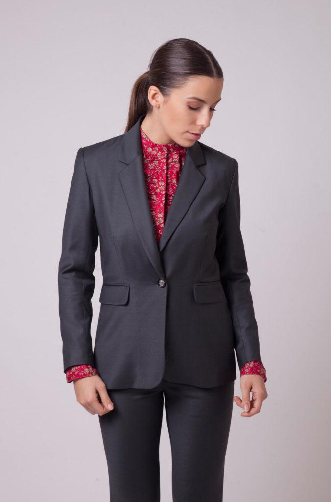 Mode éthique - Veste en laine stretcj Danielle Engel
