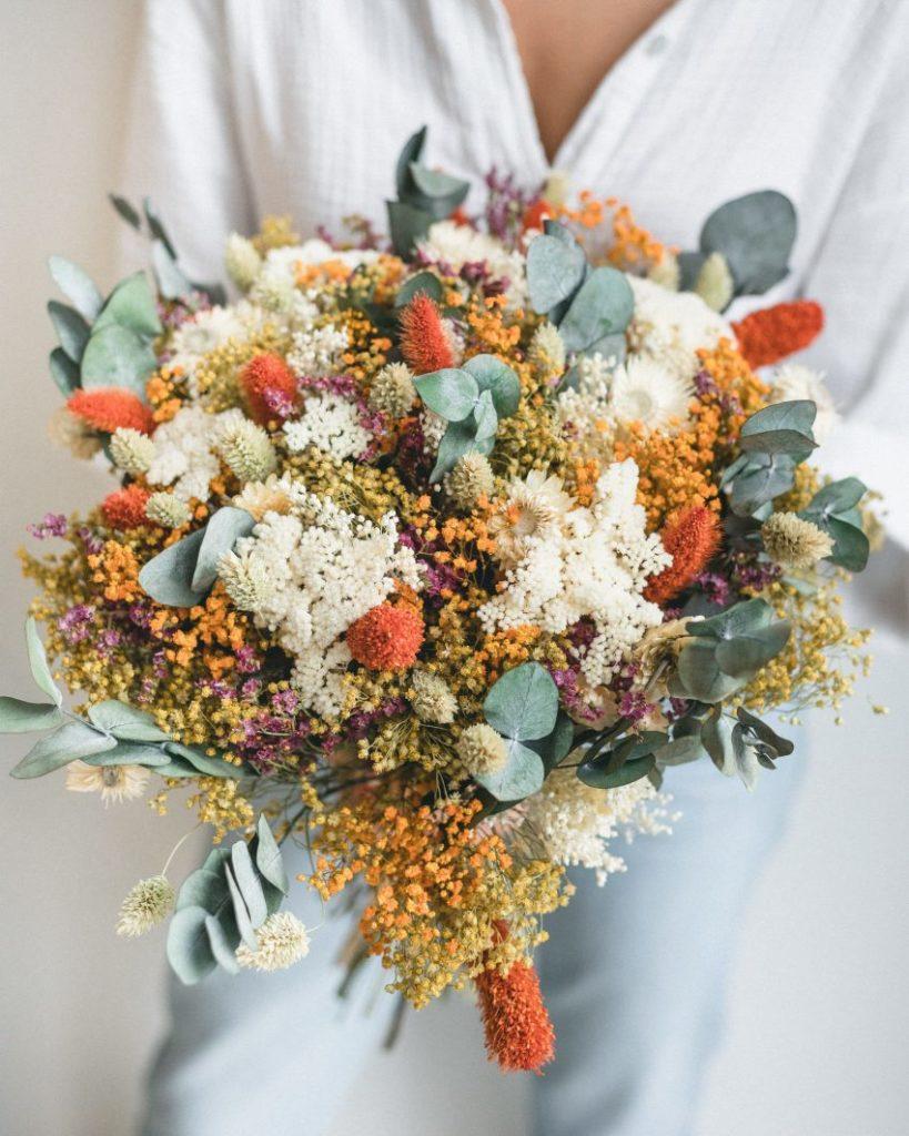 Bouquet fleurs séchées Rosa Cadaquès