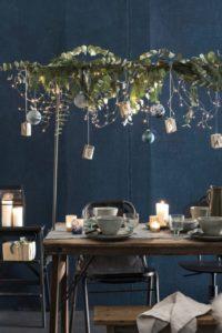 barre décorative de table de Noël