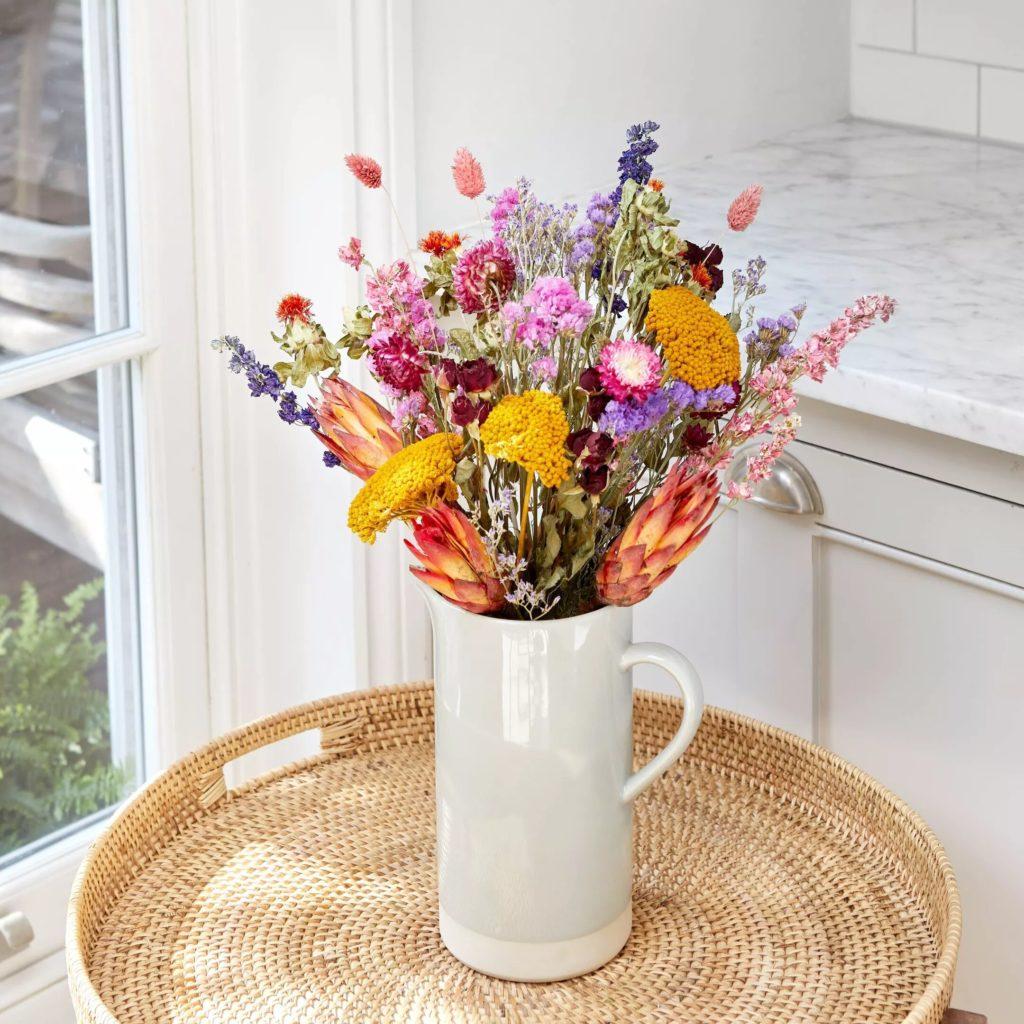Bouquet fleurs naturelles séchées Bloom & Wild