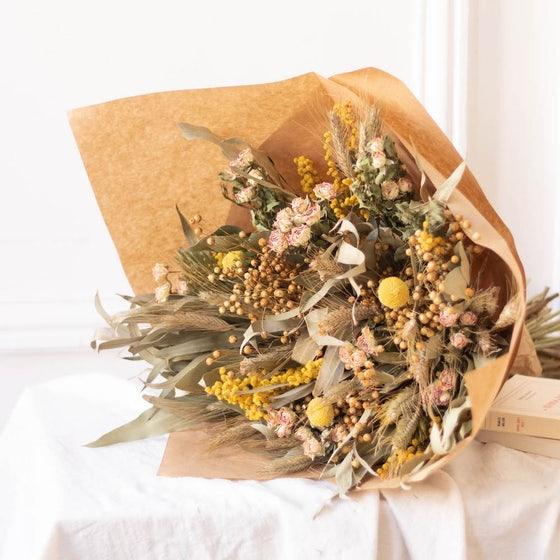 Bouquet de fleurs naturelles séchées Zion Bergamotte