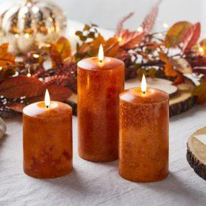 Décoration d'automne - Bougies LED