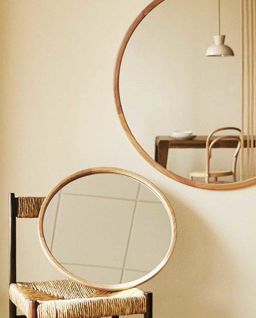 grand miroir cadre bois