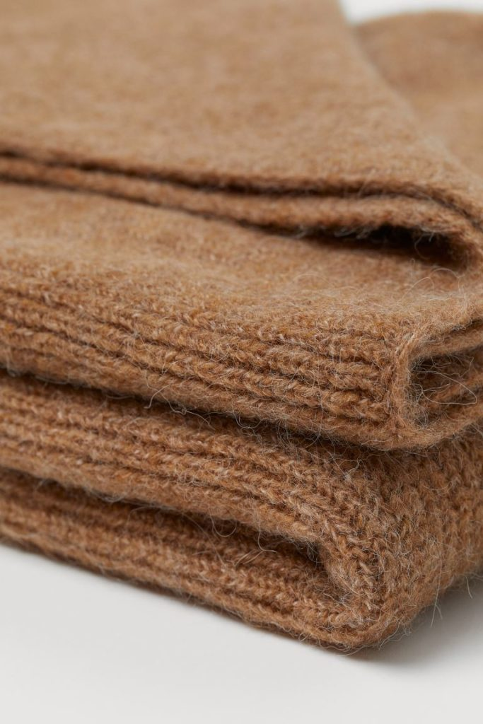Décoration d'automne - Plaid côtelé en laine
