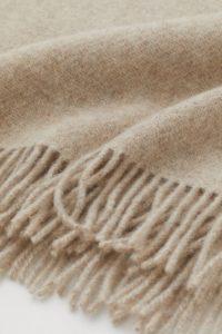 Décoration d'automne - Plaid en laine