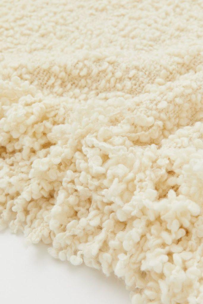 Plaid laine melangée