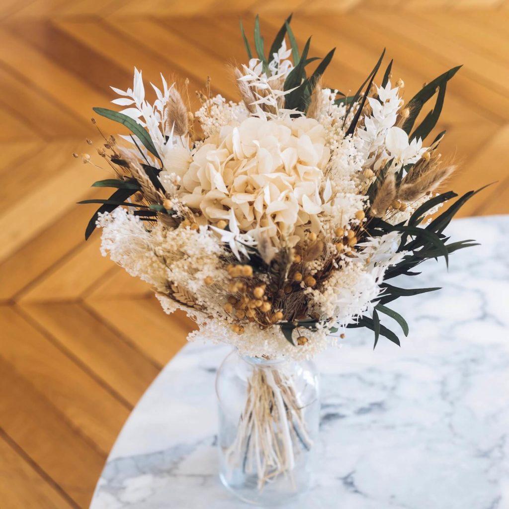 Décoration d'automne - Bouquet de fleurs séchées Flowrette